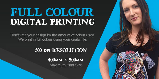 full colour digital printing - Designing T Shirts At Home